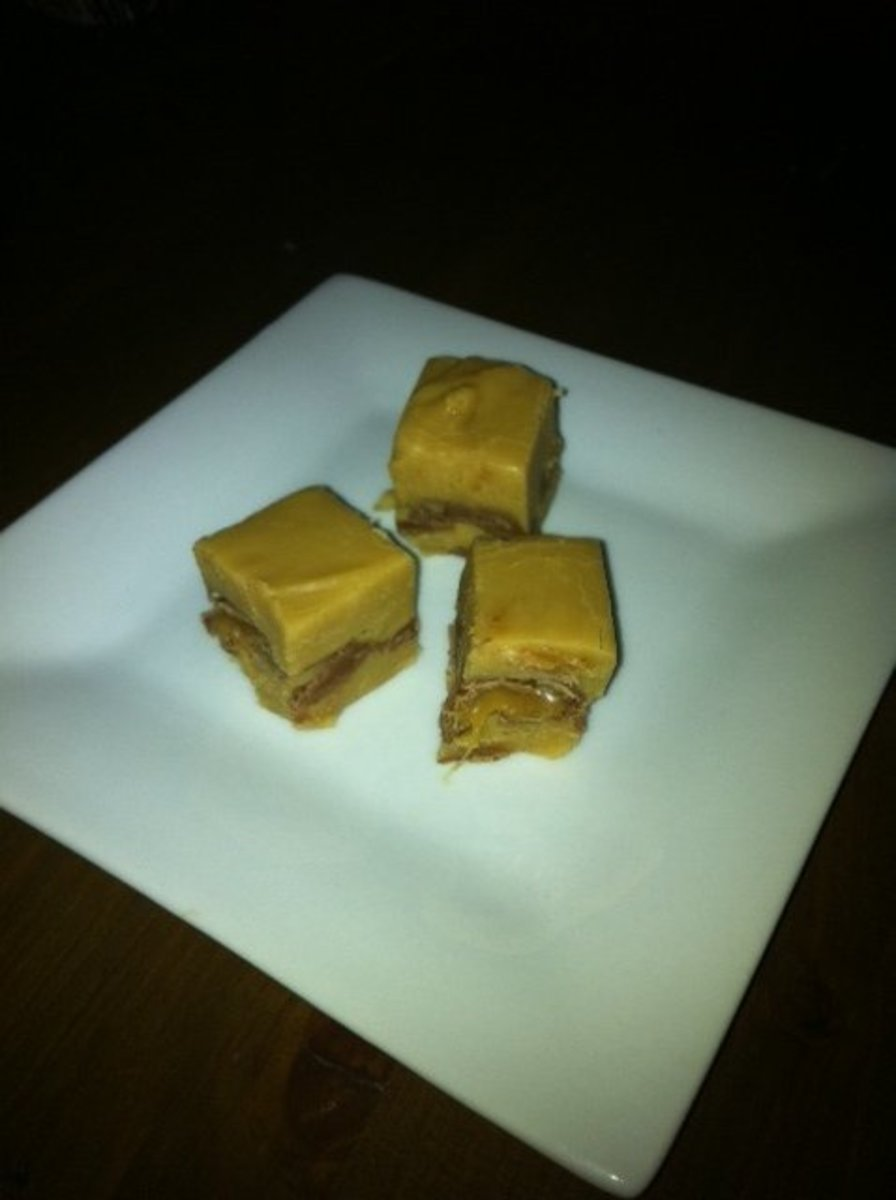 Finished Caramilk Fudge
