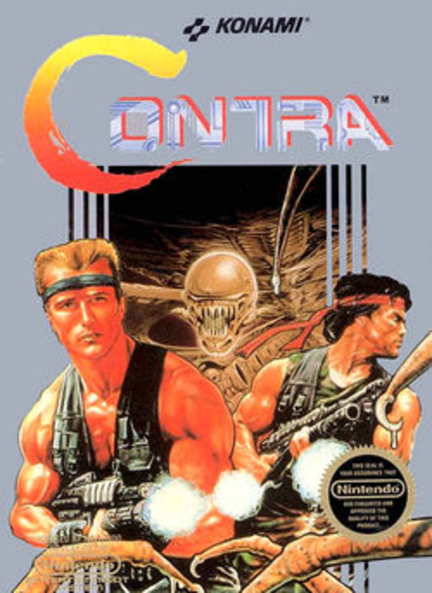 Konami Contra for the Nintendo NES Console - Game On! Everyone knows the Contra cheat code - Classic Nintendo Game Insanity!