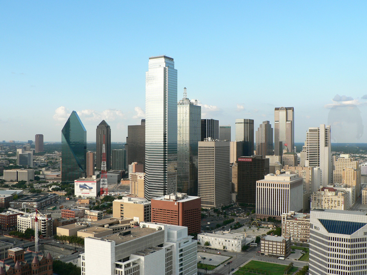 High-level view of Downtown Dallas