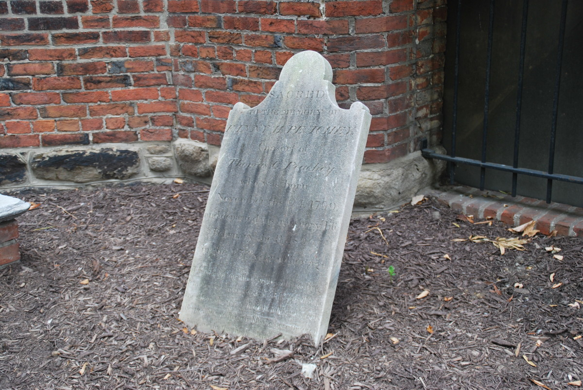 A Long Forgotten Grave at the Westminster Hall and Burying Ground