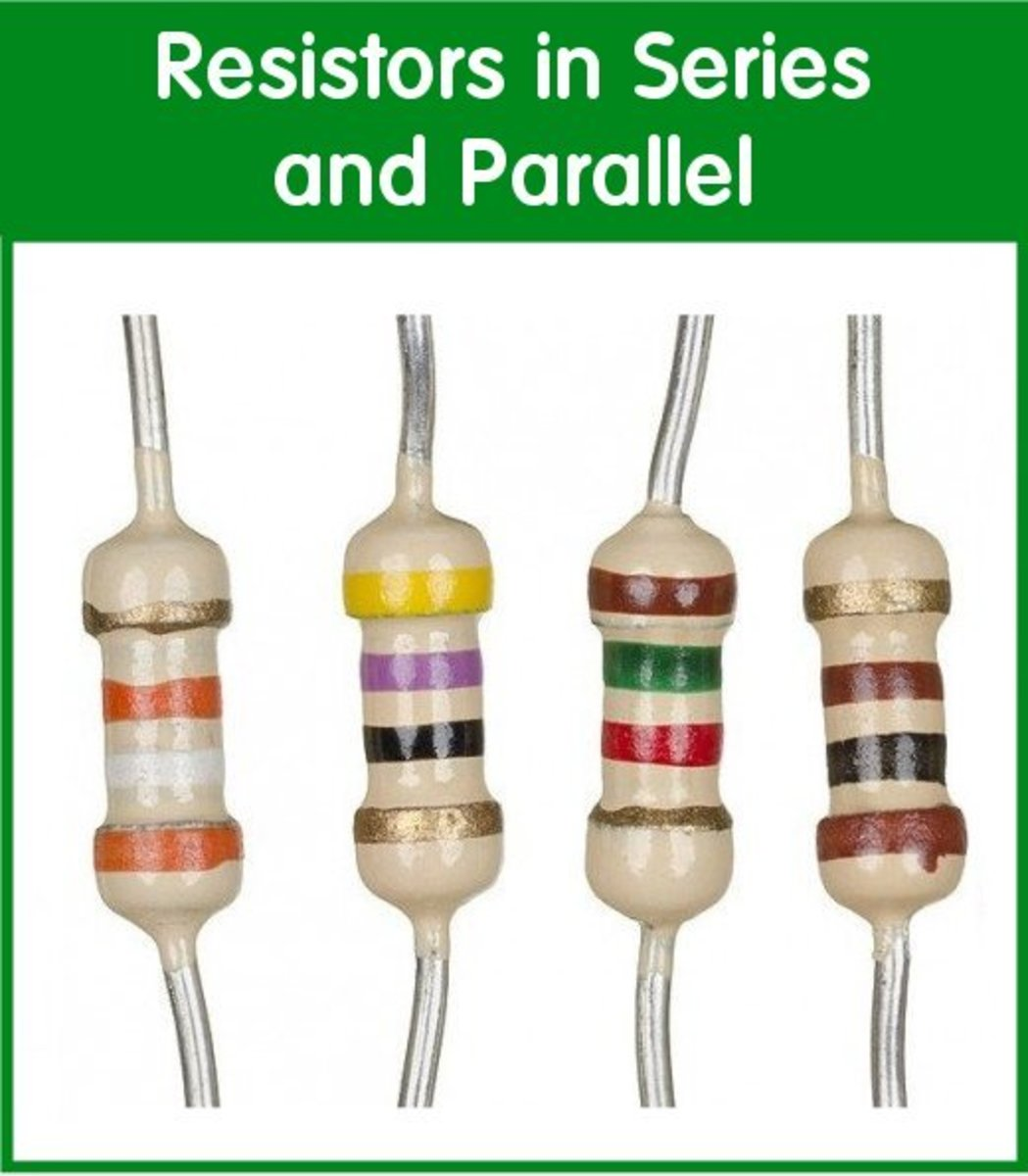 A selection of resistors