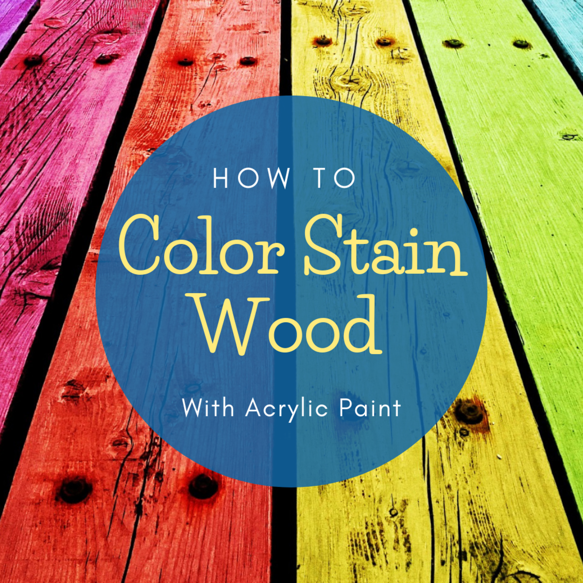 How to Color Stain Wood for Crafts