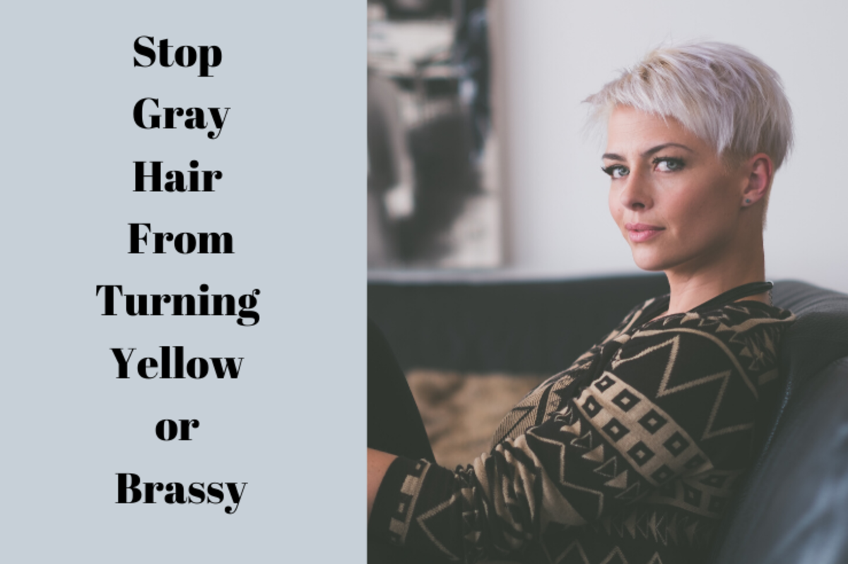 How to Stop Gray Hair from Turning Yellow or Brassy
