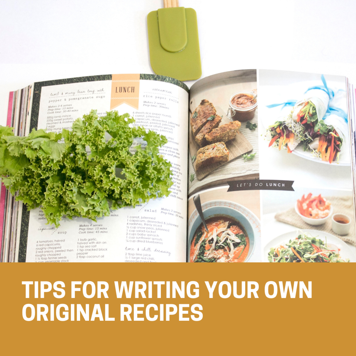 Read on to learn how to write your own recipe book.