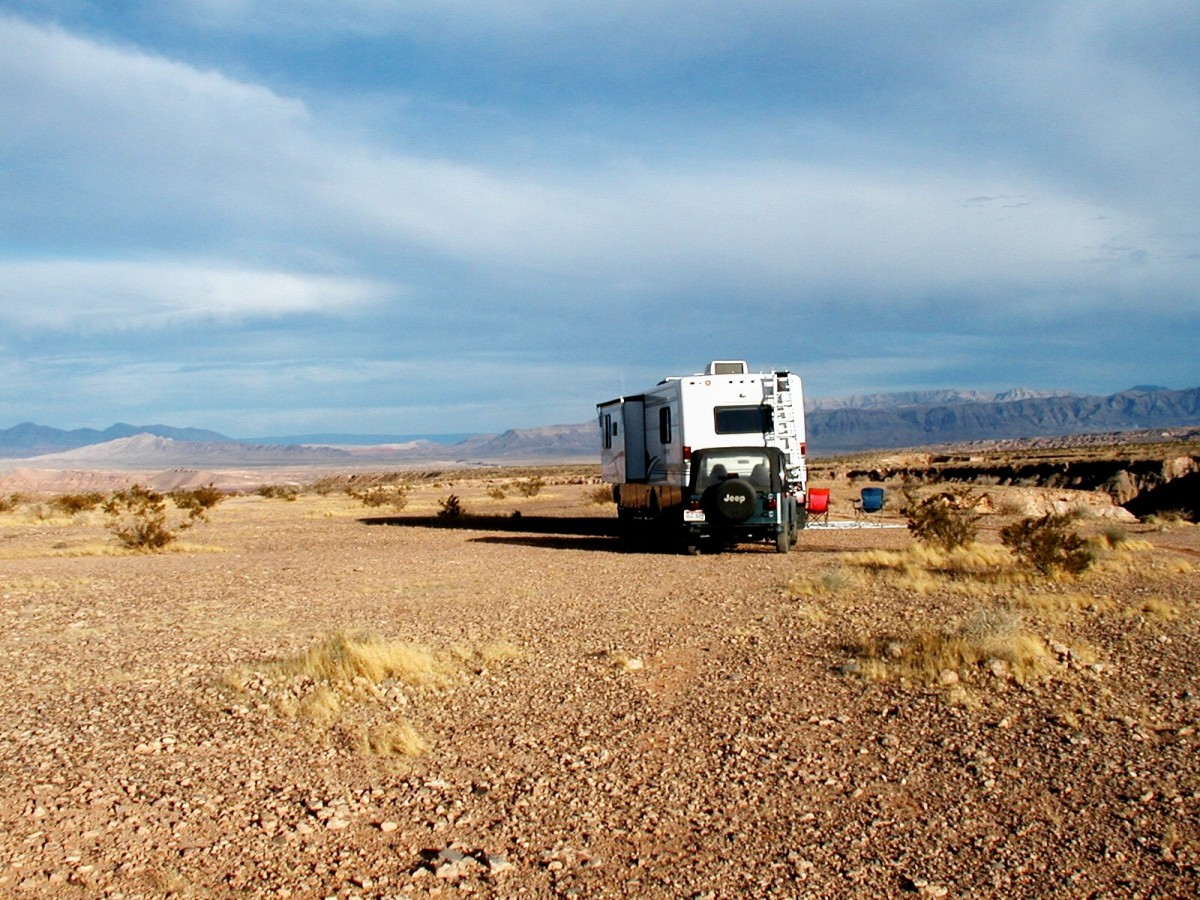Boondocking in Nevada near Lake Mead National Recreation Area