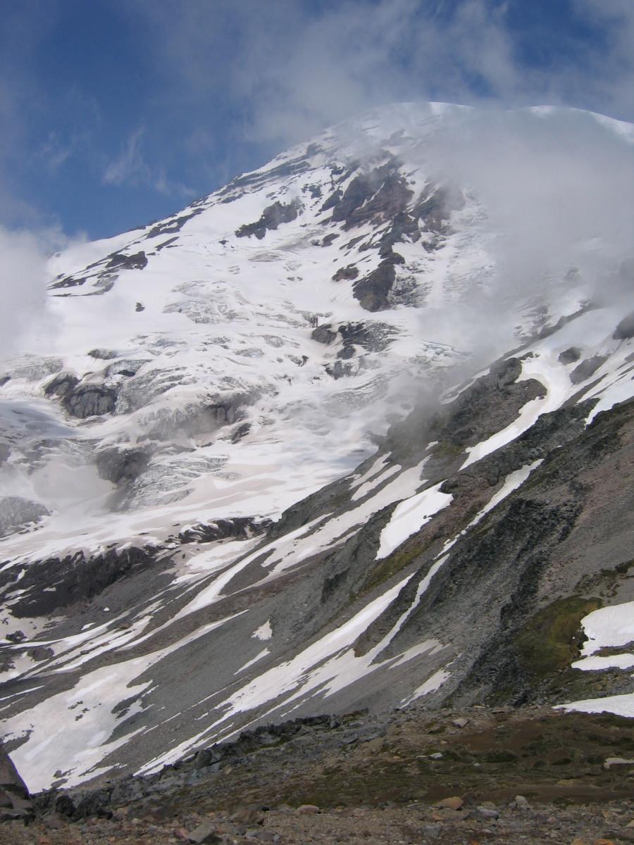 The Nisqually Glacier on Mt. Rainier