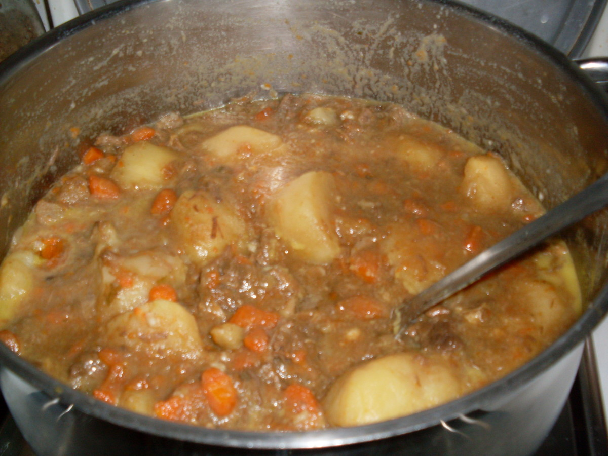 freshly made pot of Scouse (thanks Elaine!)