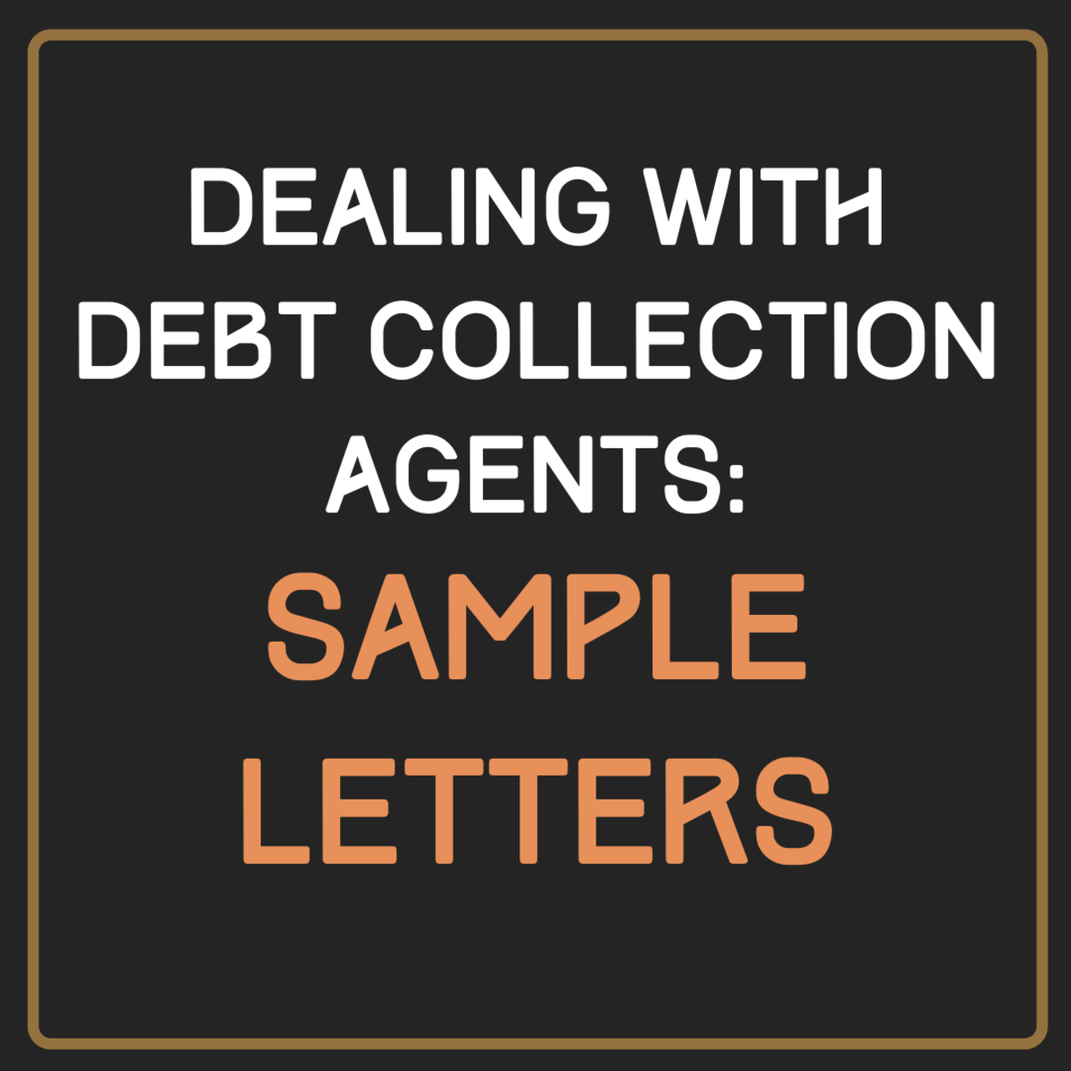Learn how to write a letter to a debt collection agency to get them to stop contacting you.