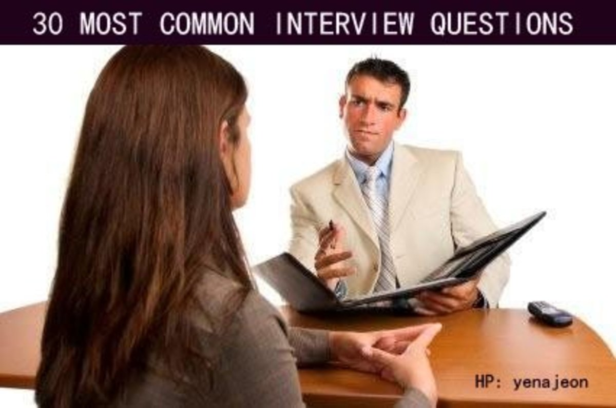 30 Most Common Interview Questions & Answers