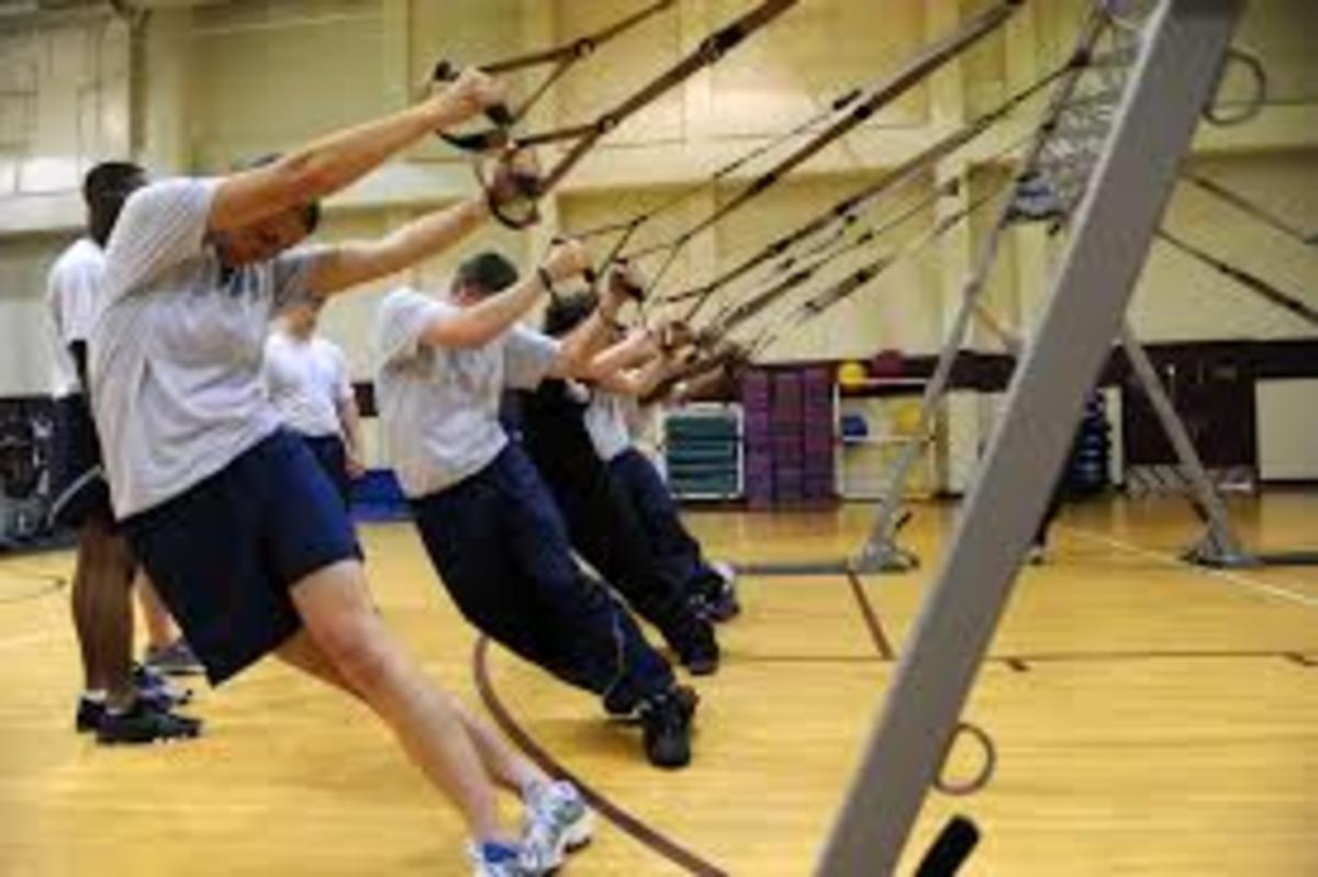 TRX Suspension training for working that core strength