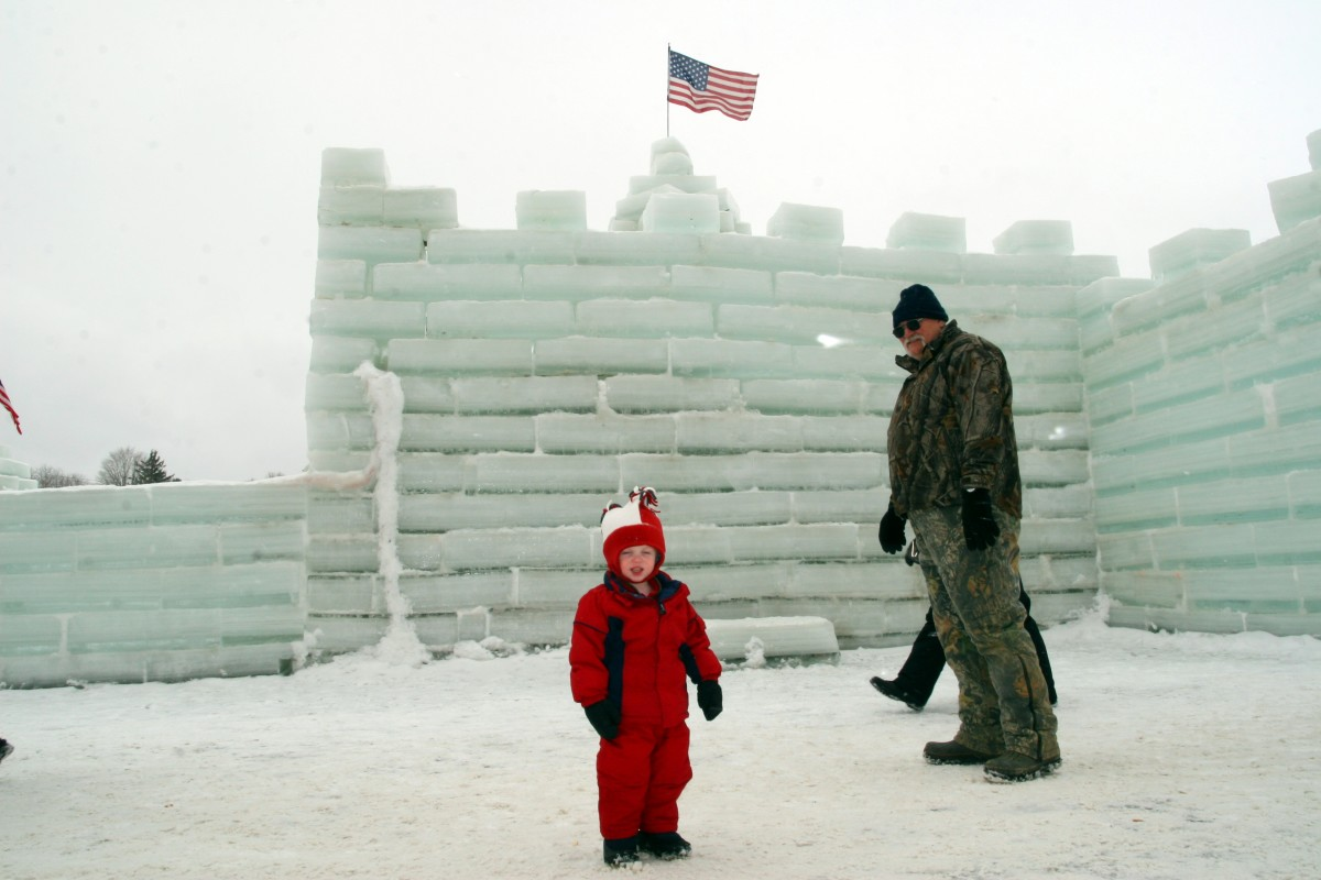 The Mayville Ice Castle in 2010