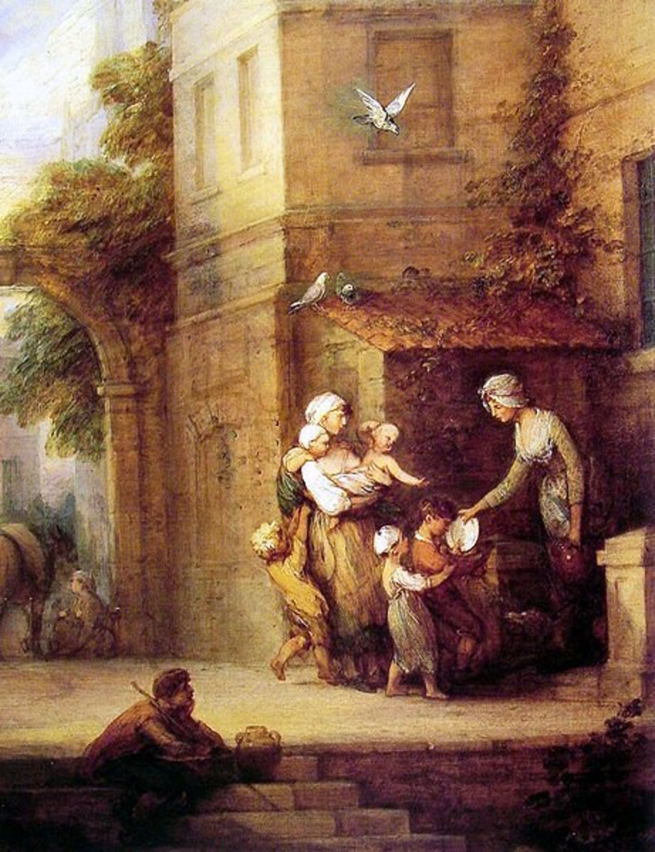 Charity relieving Distress by Thomas Gainsborough (1727-1788)