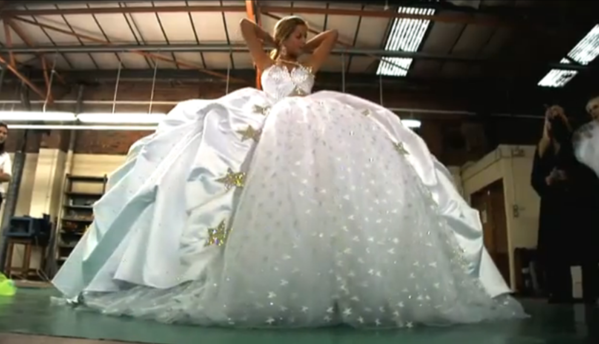 Gypsy wedding dresses photos video of impressively big for Big gypsy wedding dresses for sale