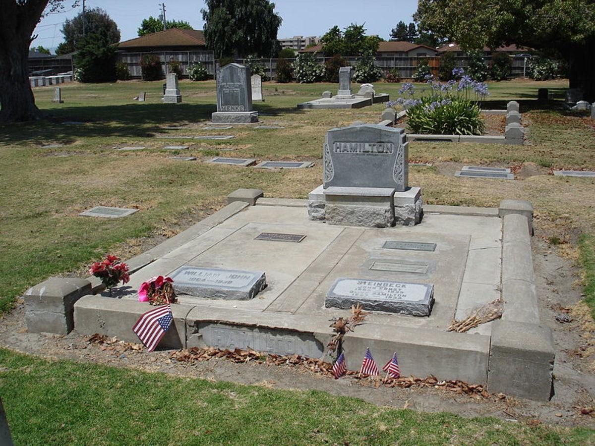 Cemetery of headstones