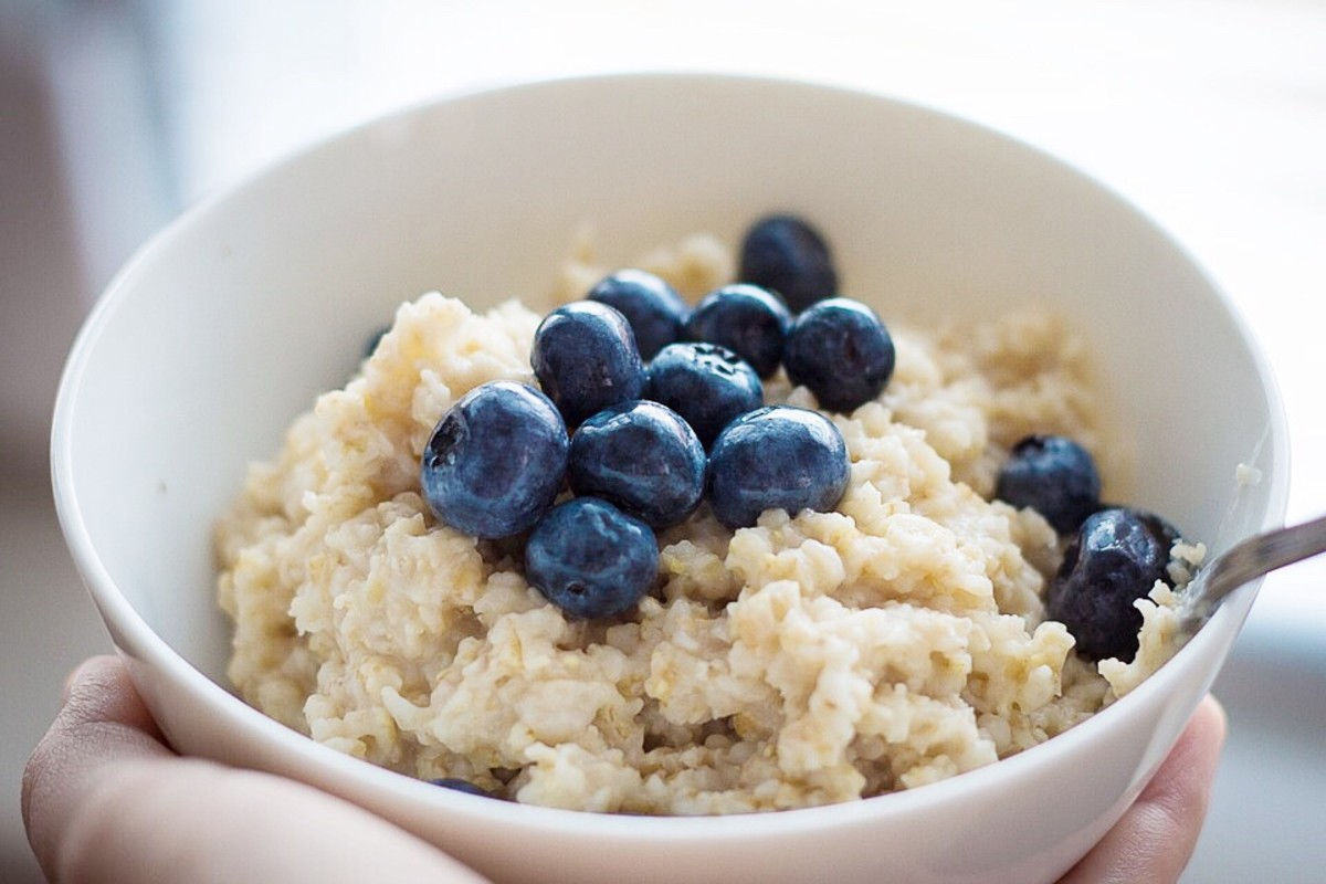 Oatmeal is a great source of soluble fiber, which helps to control the blood cholesterol level.