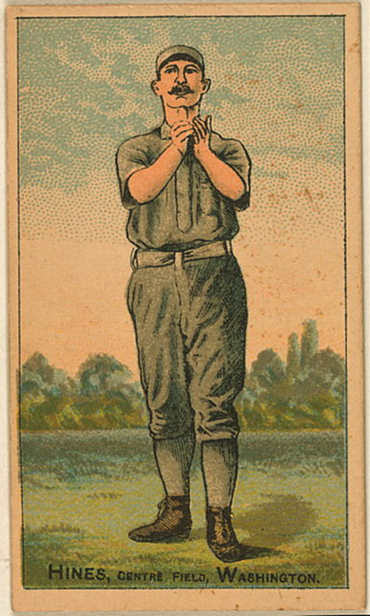 1887 Paul Hines baseball card from the Benjamin K. Edwards Collection in the Library of Congress.