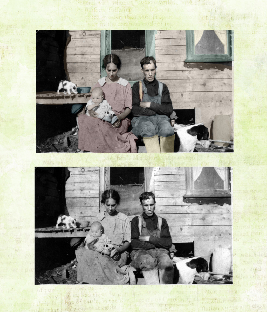 How to Colorize an Old Black and White Photo with GIMP: A GIMP Tutorial