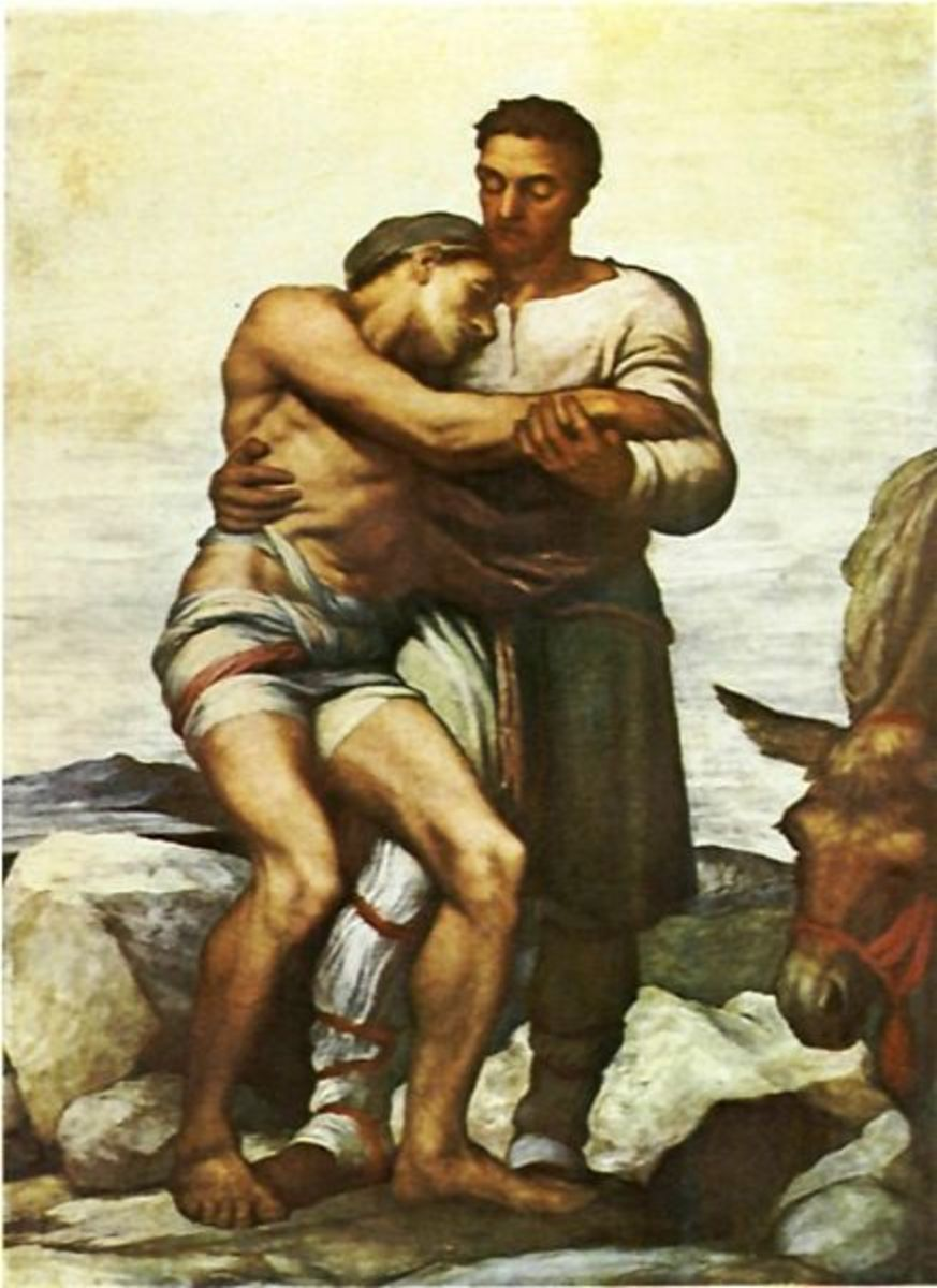 "Jesus' story of the ""Good Samaritan"""