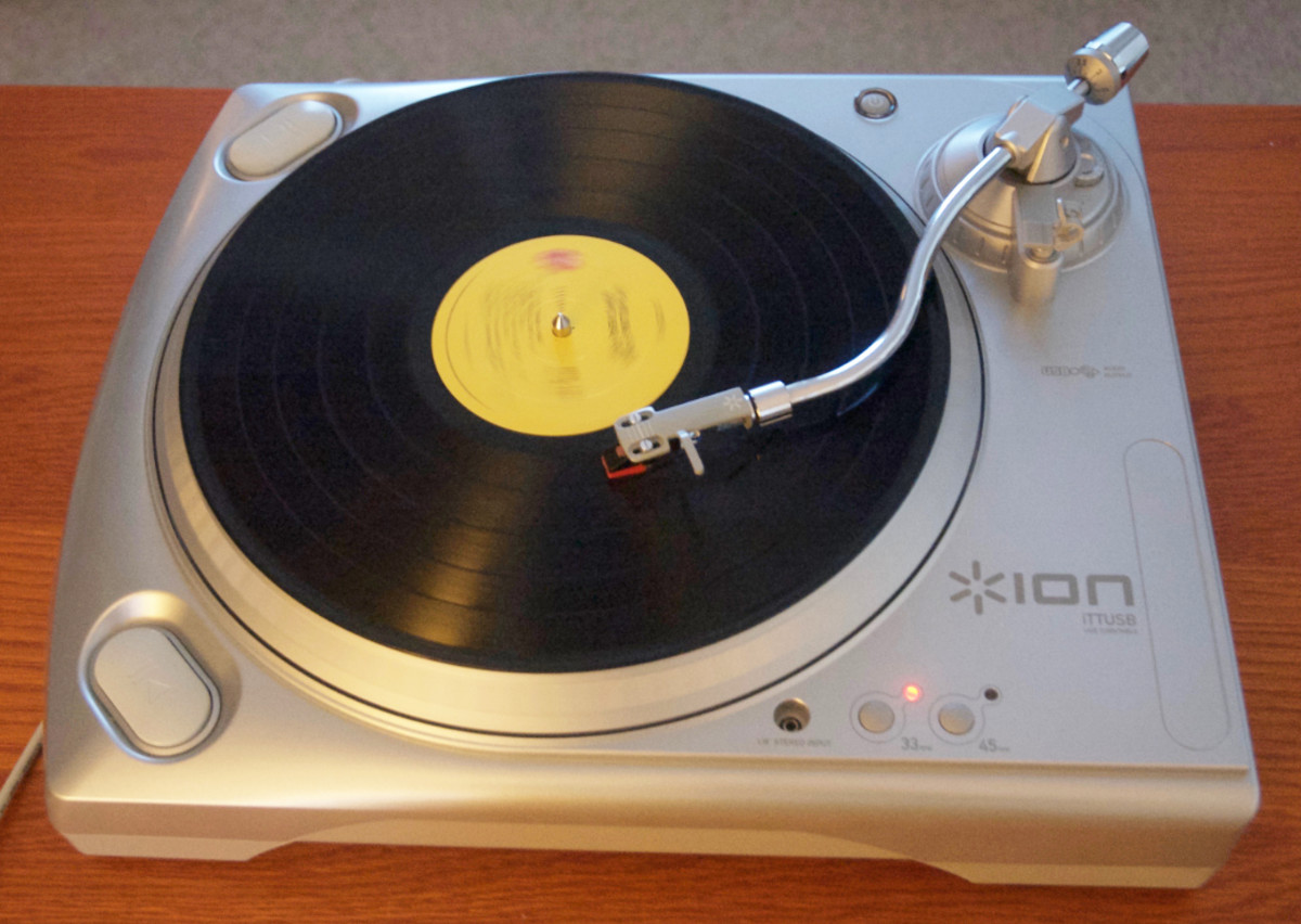 With the ION iTTUSB turntable, it's easy to record your vinyl records to digital formats.