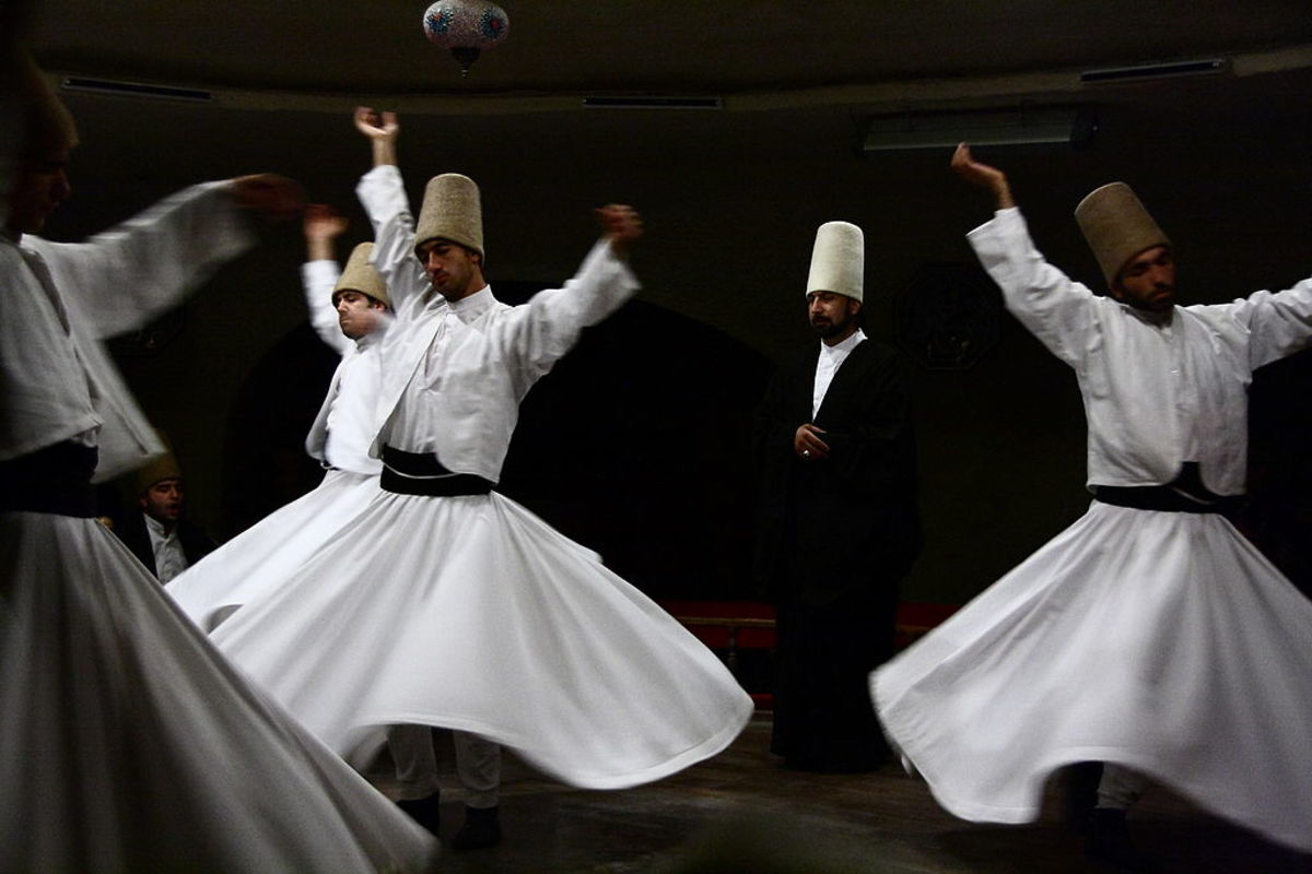 Whirling Dervishes (Muslim Sufi mystics)