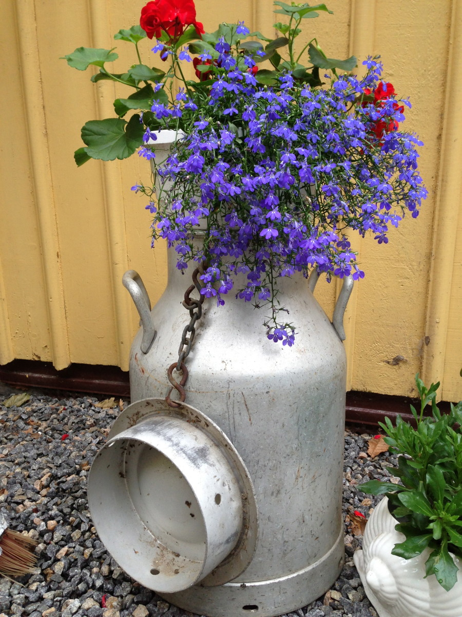 Re use and recycle old things in your vintage garden for Recycle old things