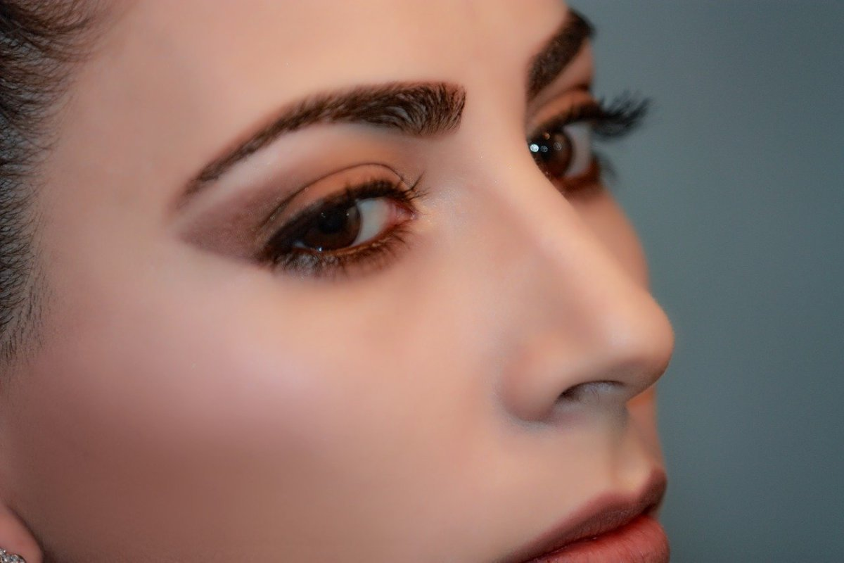 closeup of a woman's face and skin
