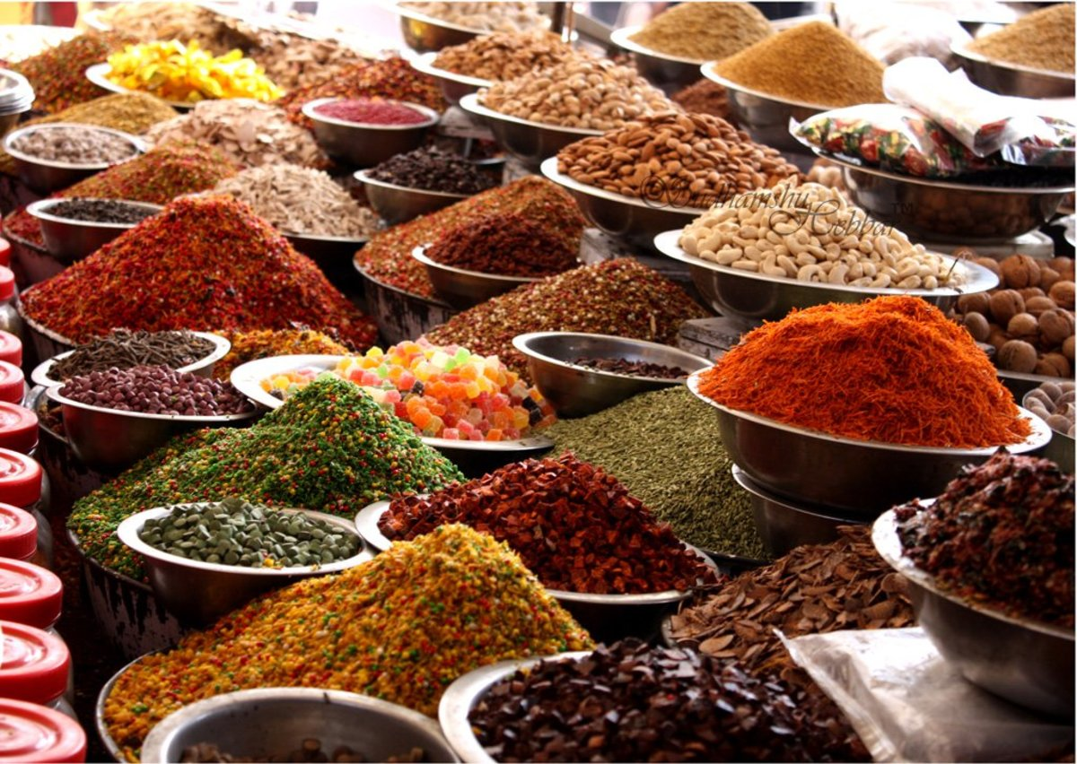 The spices from Ahmedabad, Gujarat, India