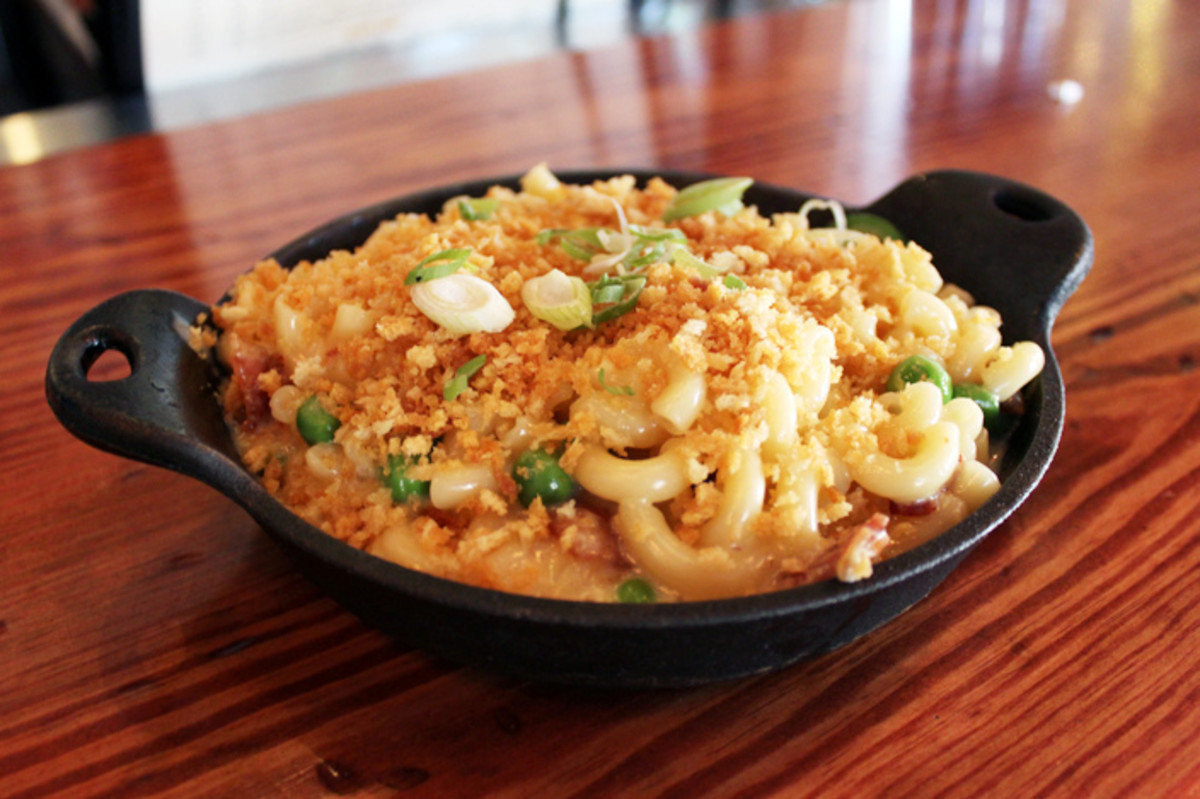 Macaroni and cheese is sure to be a hit at any potluck.