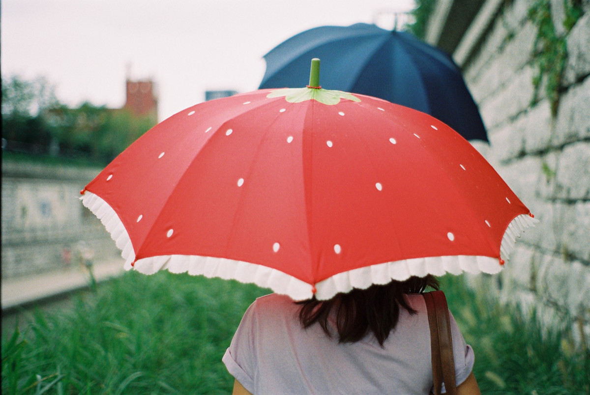 This strawberry-themed UV parasol is utterly adorable!