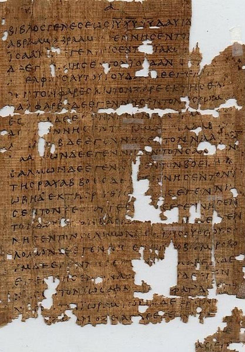 Papyrus Showing Matthew Chapter 1