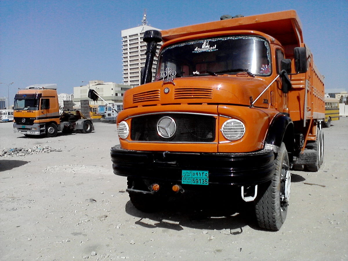 Old Bullnose Mercedes Trucks in Qatar