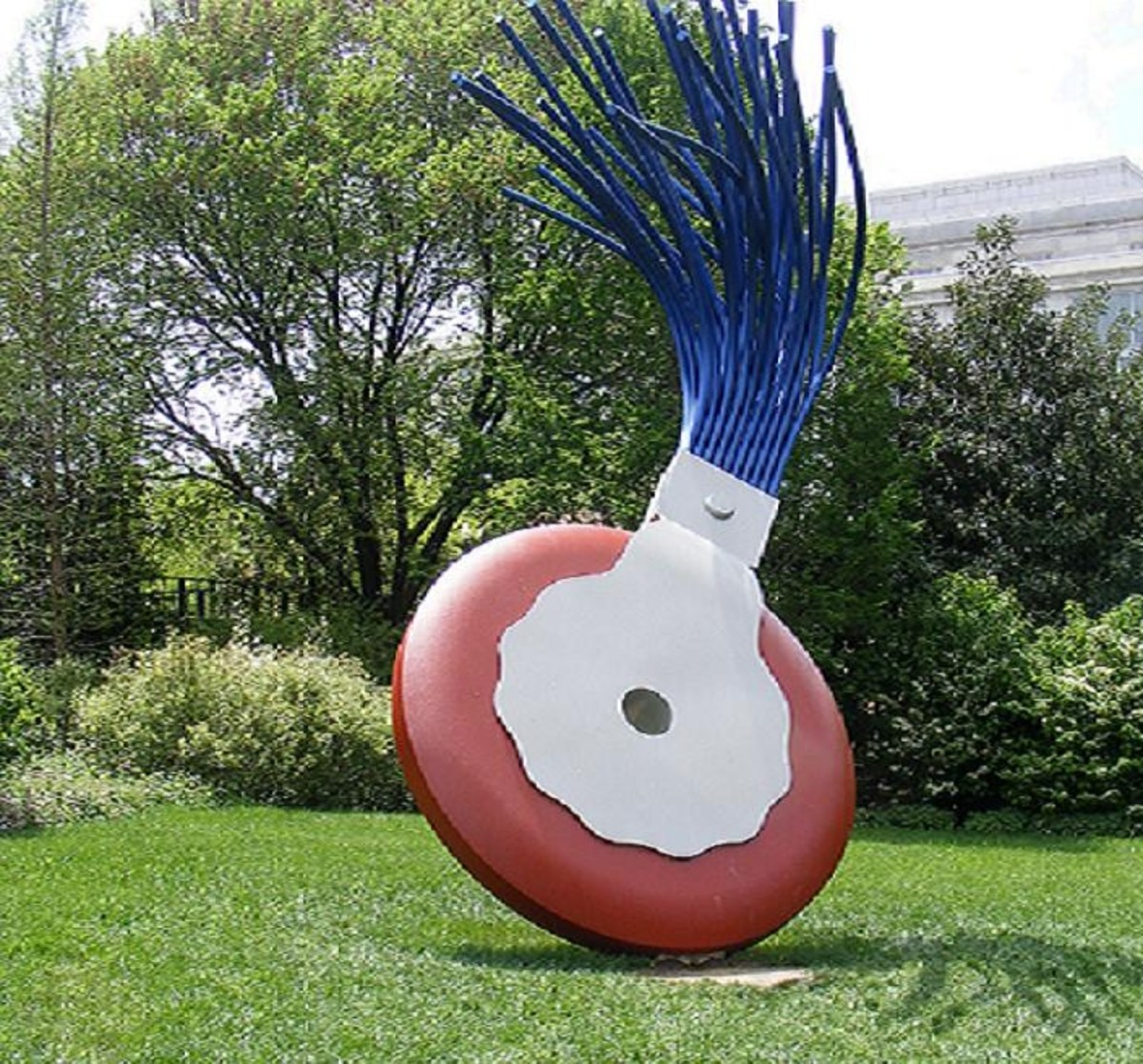 Giant typewriter eraser sculpture- Claes Oldenburg-1976