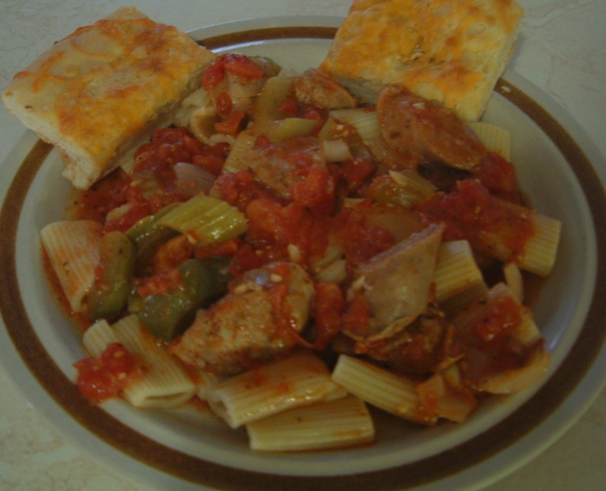 Spicy Pepper Penne Pasta With Sausage Recipe Like East Side Mario's ...