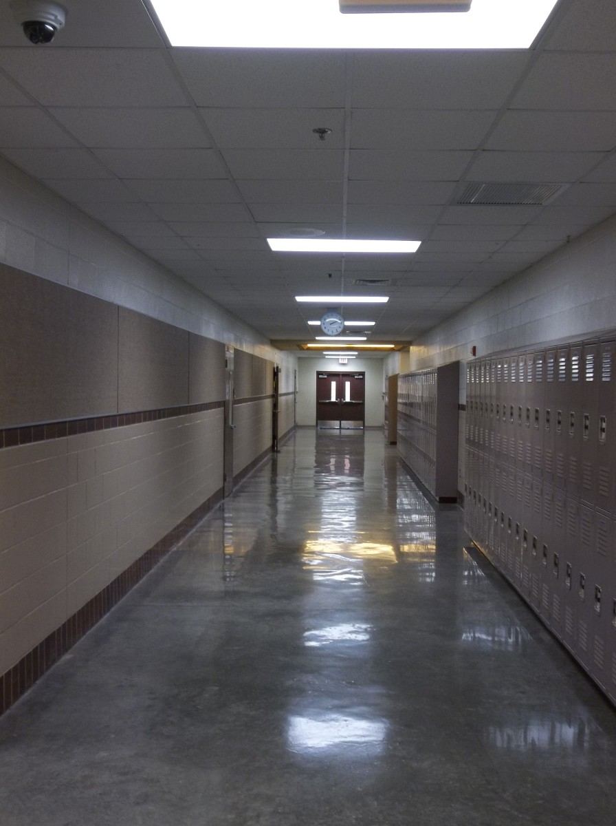 An empty hallway, waiting for the rush of eager minds that are willing and ready to learn, bustling toward waiting teachers with open arms; both thinking of next summer.