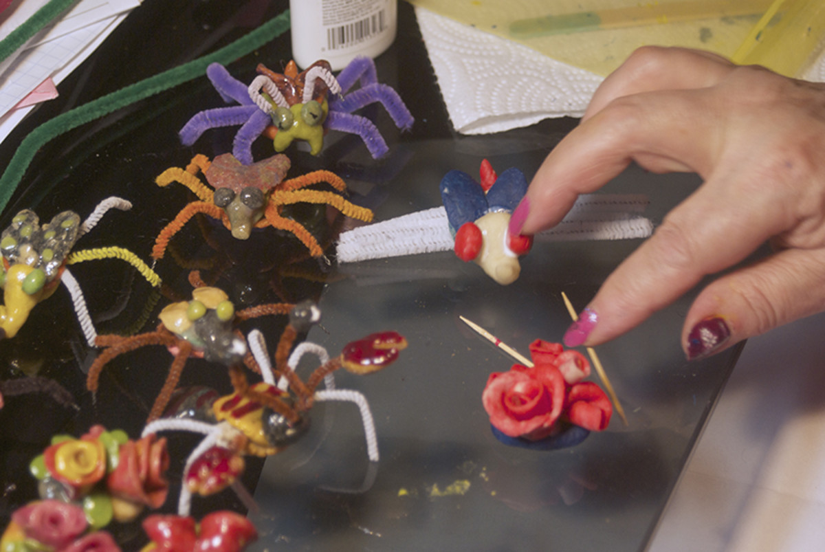 How to Make Flowers From Bread Clay (Gift Pin Step-by-Step)