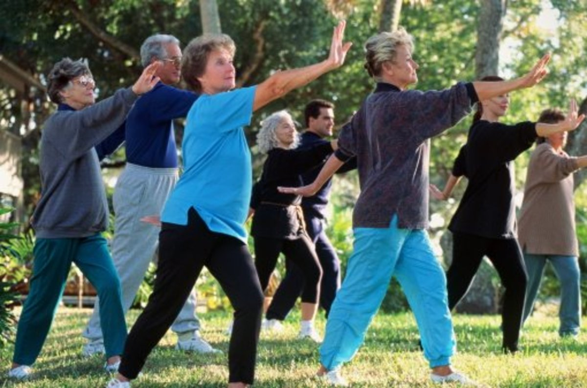 Tai Chi teaches balance, concentration, and relaxation through continuous movement.