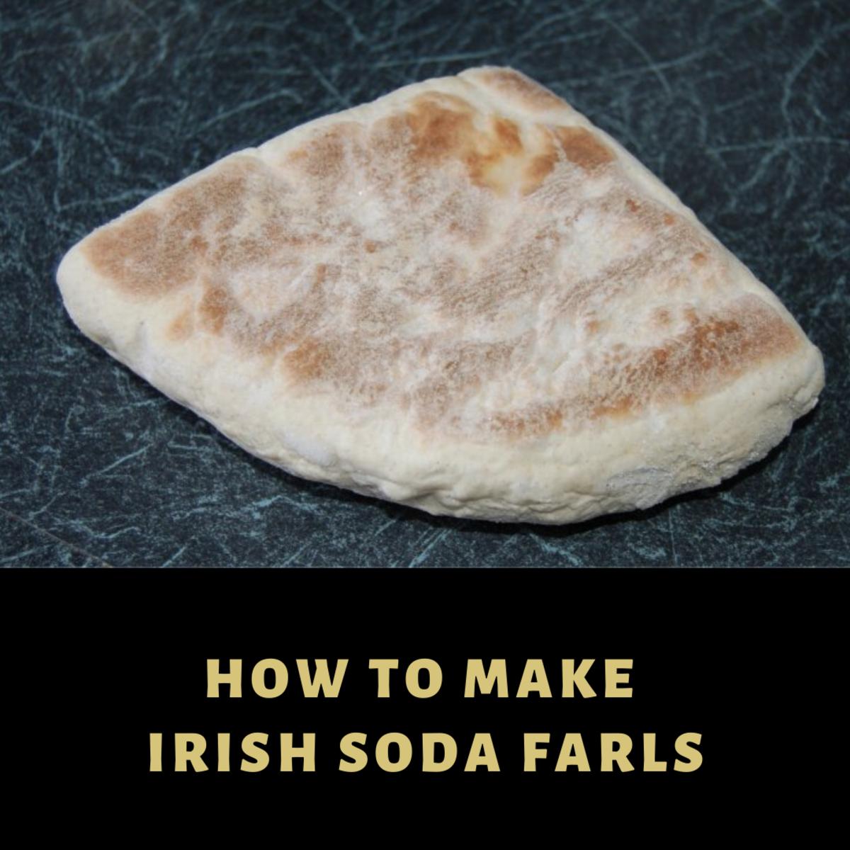 A soda bread farl