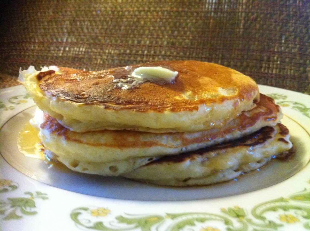 Mouthwatering buttermilk pancakes!