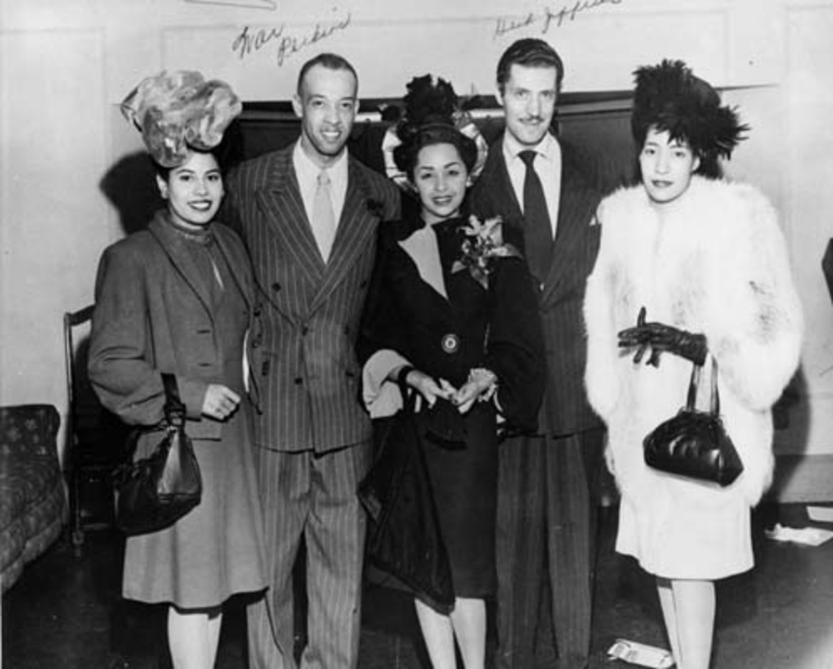 Is pictured in the center to her right is jazz singer herb jeffries