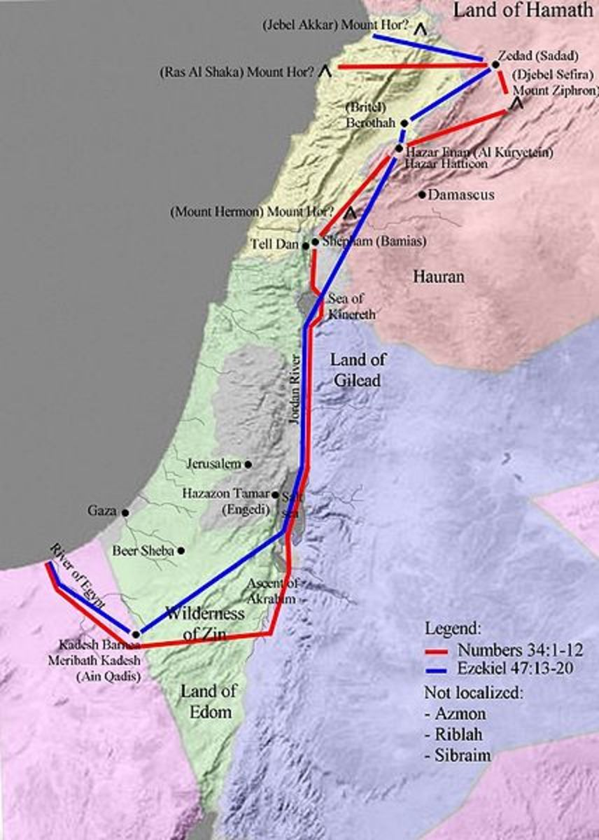 The land of Israel at the time of Moses