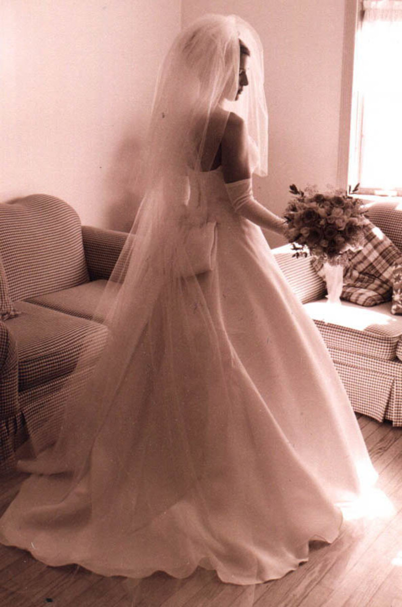 Chapel-length Veil With Blusher