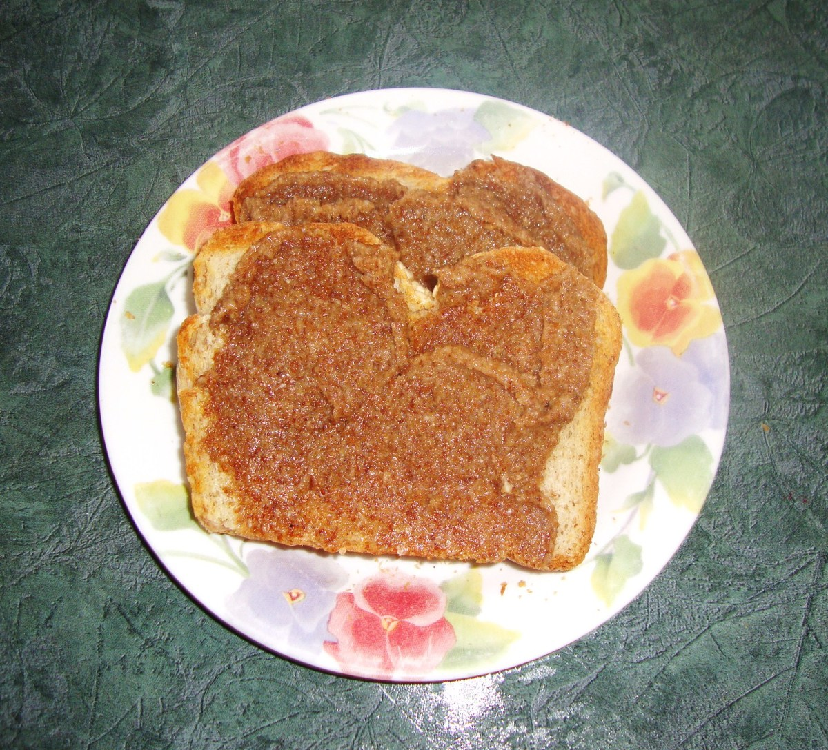 Starting the day off right with sesame-flax butter on toast.