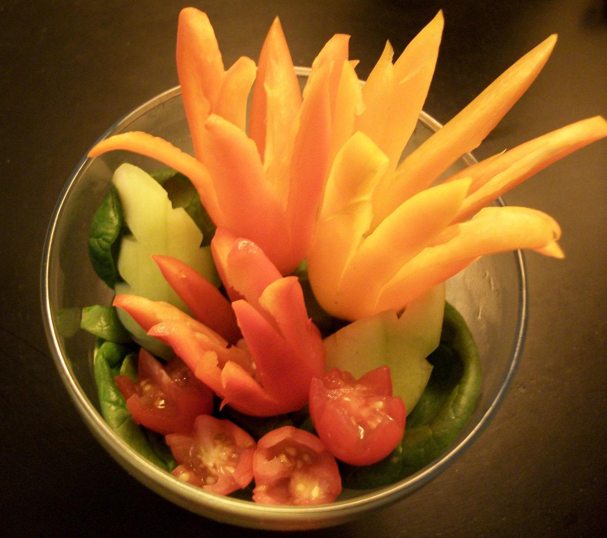 Creative Salad Decoration Salad Decoration in an