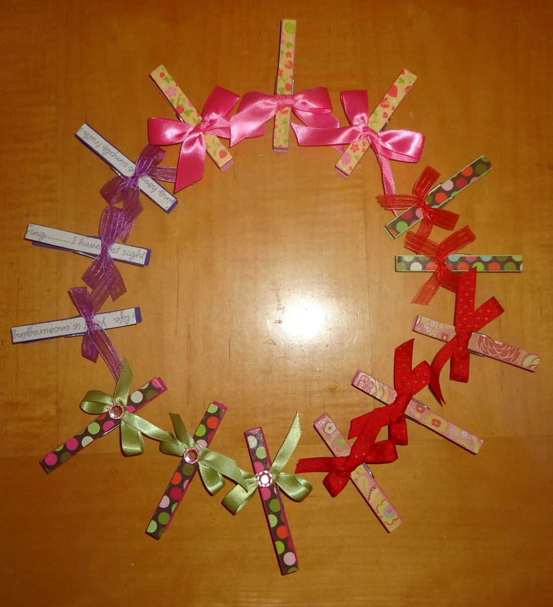 Embellished Clothespins