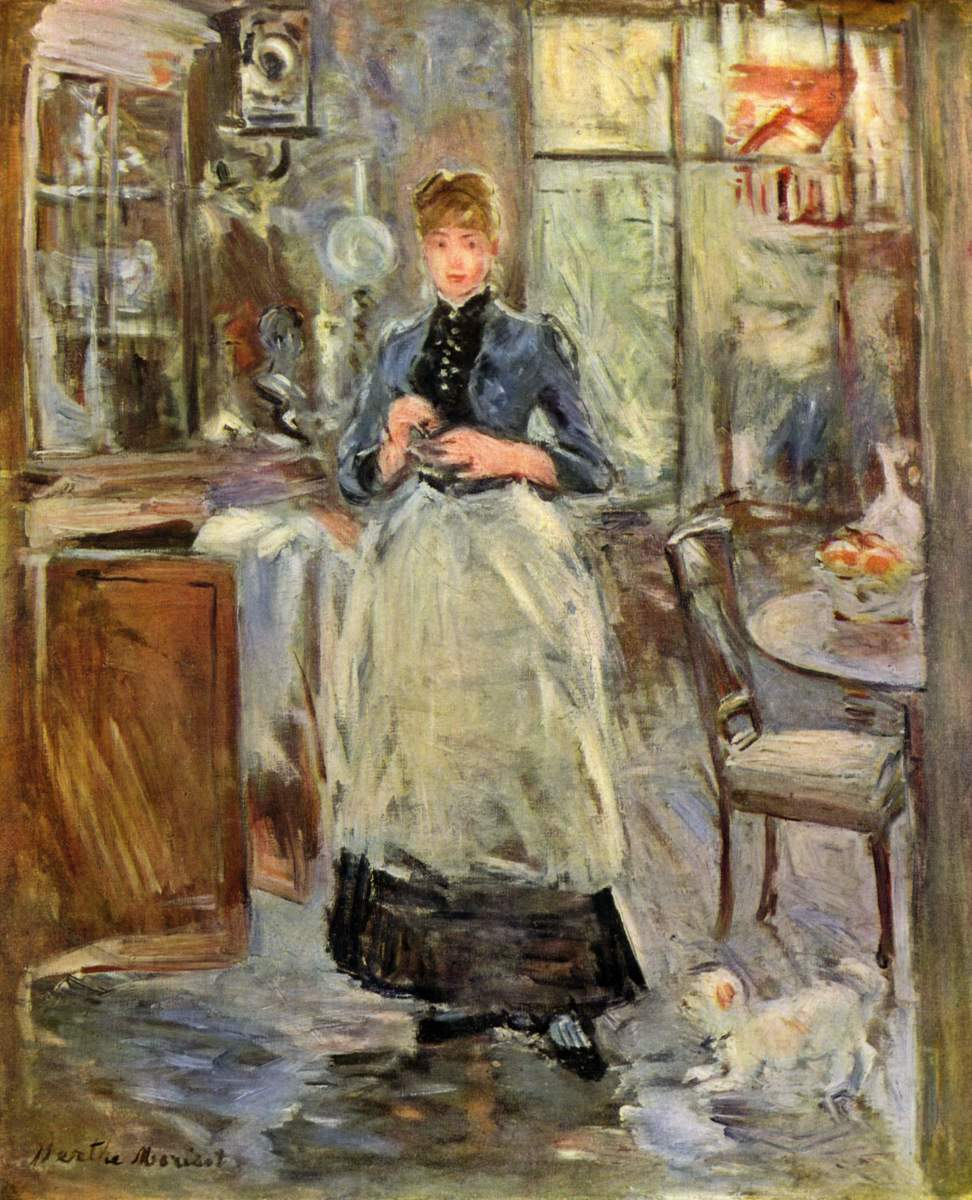 Girl in Apron - Painting