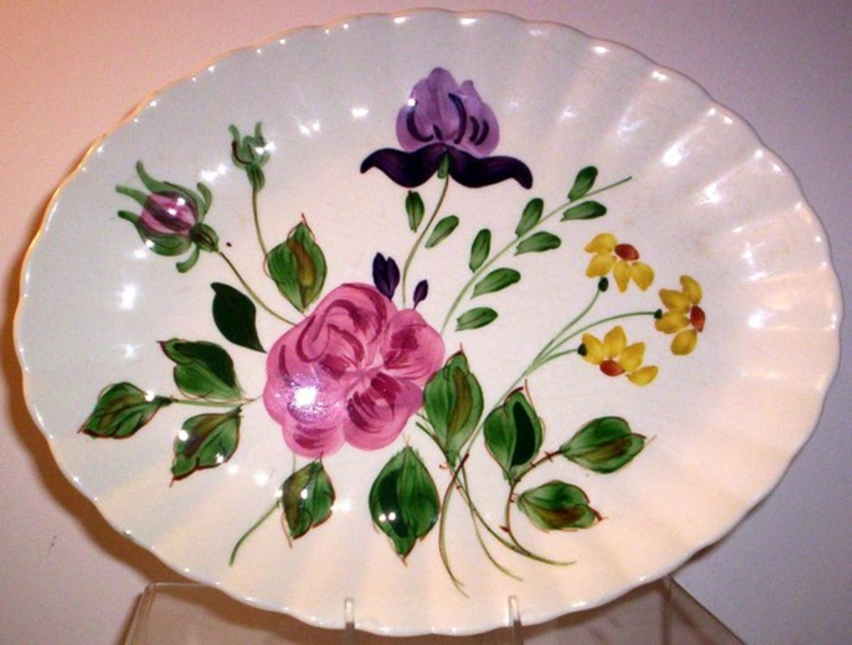 """""""June Bouquet"""" is one of many patterns of Blue Ridge dishes"""
