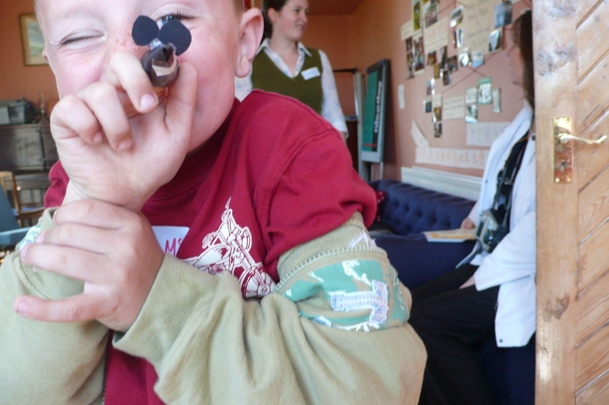 Children engage well with things they can make and touch. This finger-puppet workshop went down a treat!