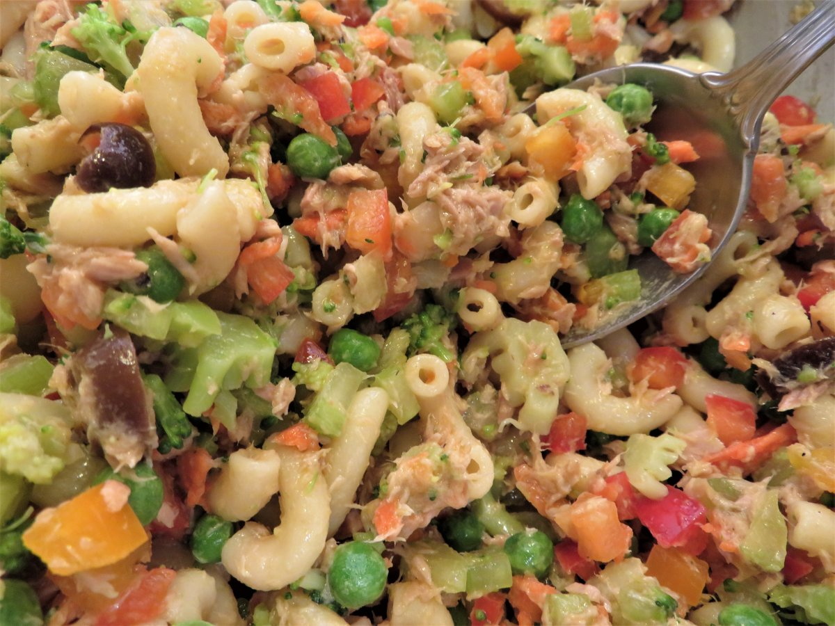 Cold Tuna Macaroni Salad With Homemade Genoa Dressing