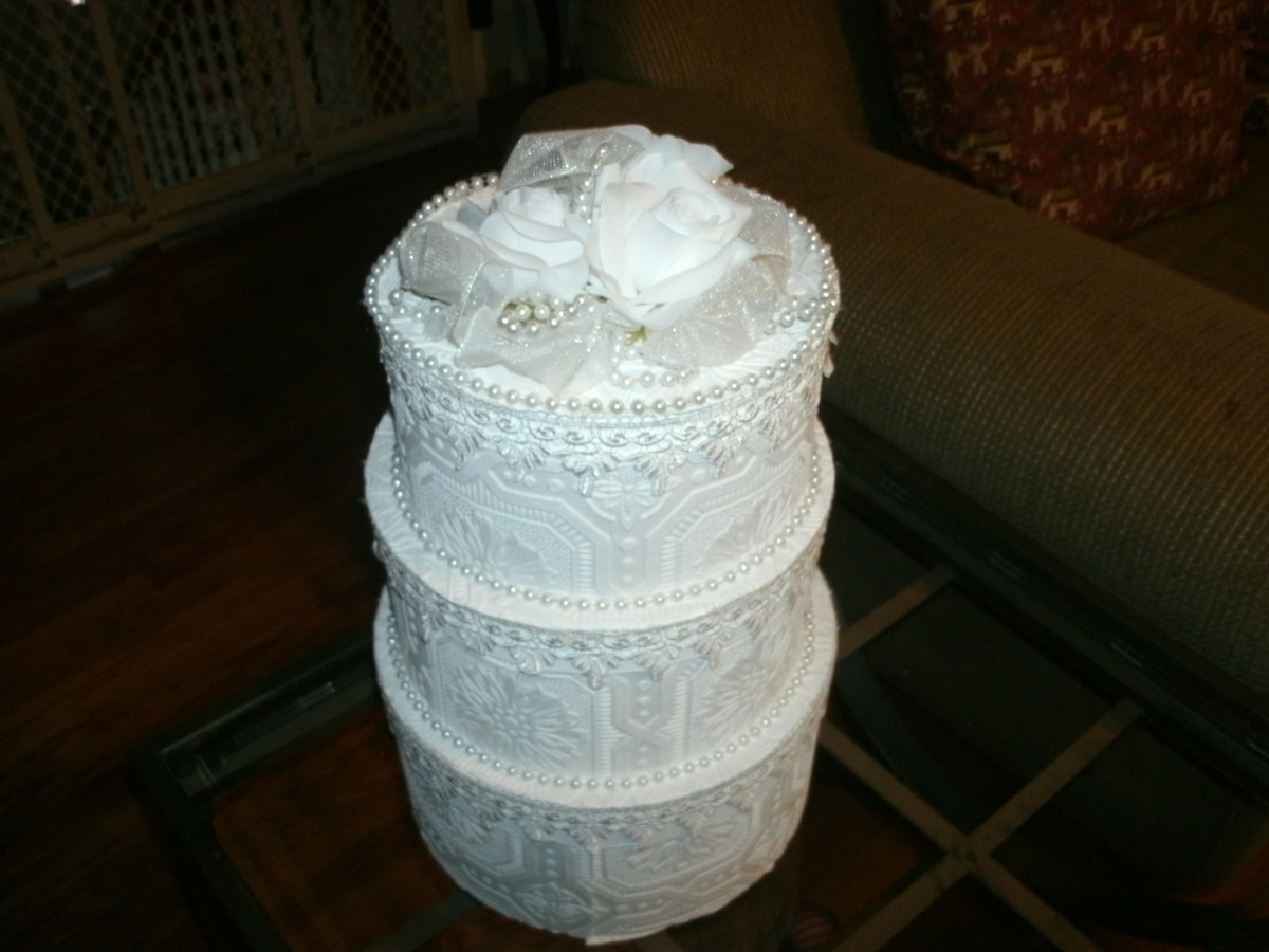 how to make a wedding cake card box with fabric how to make a wedding cake card box holidappy 15886