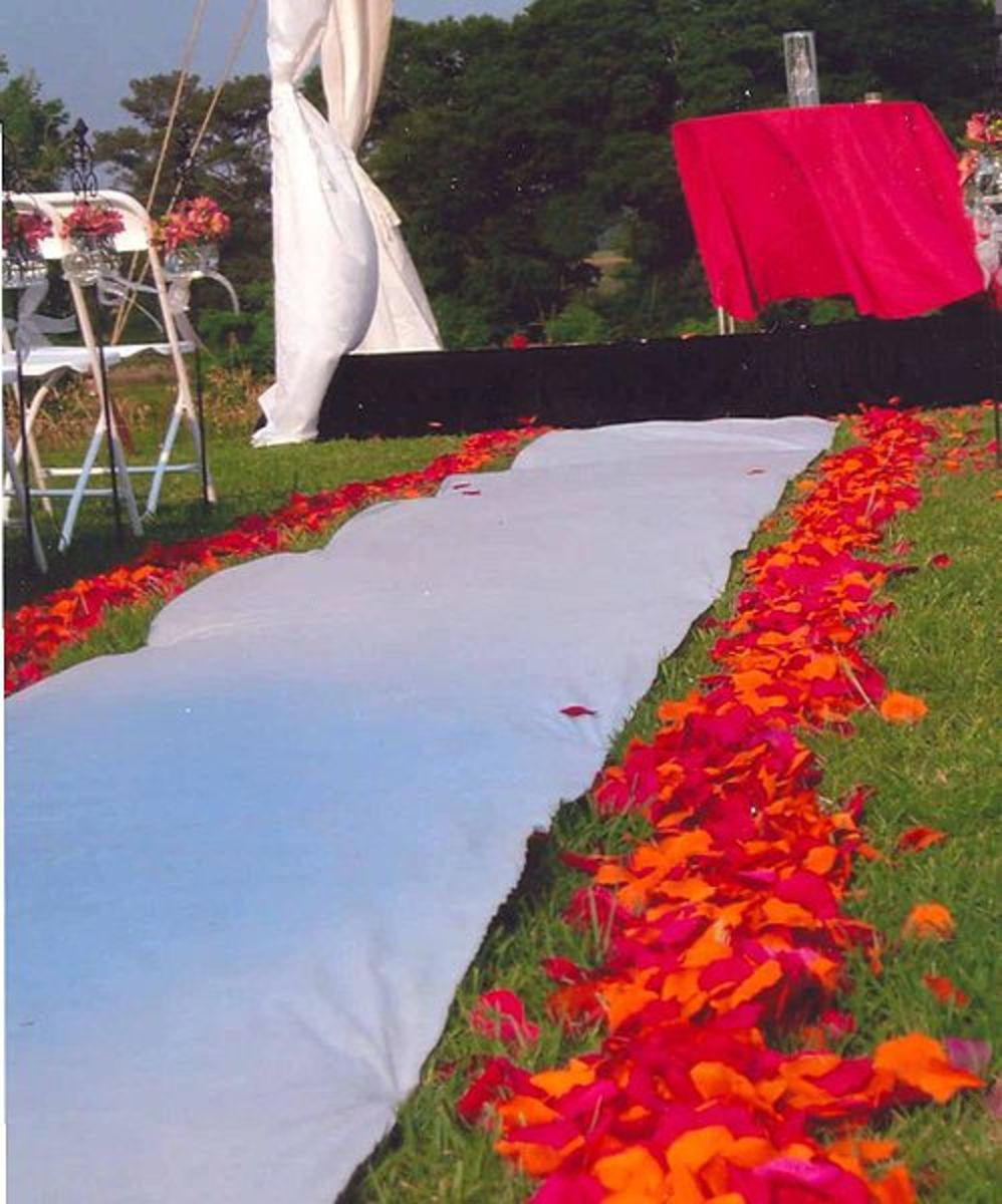 How to Make a Monogrammed Wedding Aisle Runner for Your Wedding
